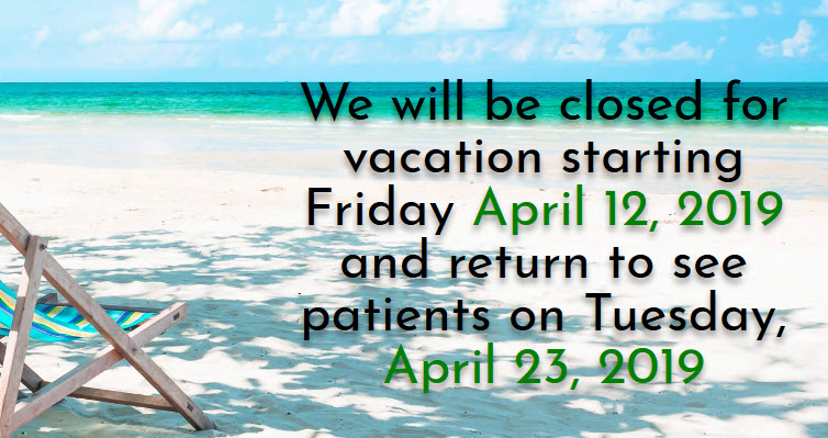Vacation Closing Dates